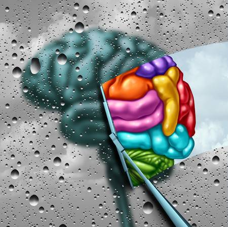 107789606-brain-creativity-as-a-gray-blurry-brain-with-drops-on-a-window-as-a-wiper-cleans-the-confusion-to-a-
